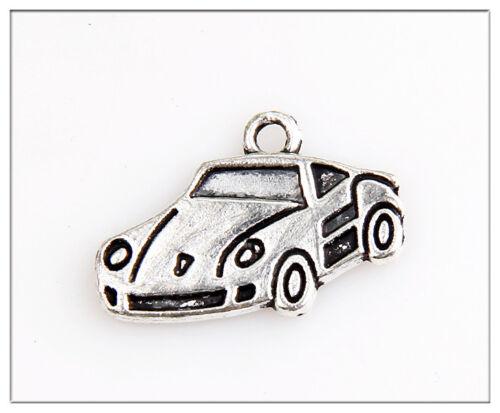 40 Car Tibetan Silver Charms Pendants Jewelry Making Findings
