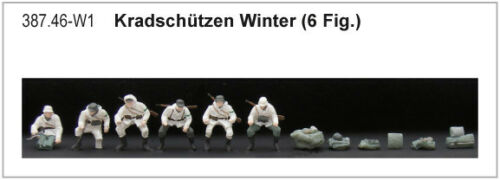 Artitec 387.46-1//87//h0 dt Kradschützen-winterntarn-terminado modelo-nuevo