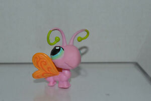 Littlest Pet Shop~#54~Hamster Gerbil~Golden White~Blue Pink Dot Eyes~Red Magnet