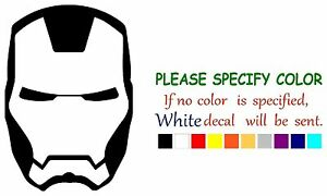 Iron-Man-Superhero-Face-Adhesive-Vinyl-Decal-Sticker-Car-Truck-Window-Bumper-7-034