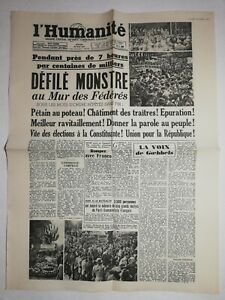 N1226-La-Une-Du-Journal-L-039-humanite-29-mai-1945-defile-monstre