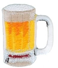 Beer-Mug-Drink-Embroidered-Iron-On-Applique-Patch-w0027