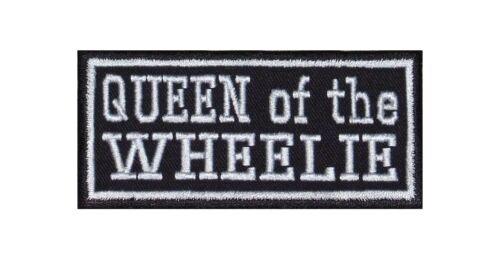Queen of the Wheelie Biker Heavy Rocker PATCH RICAMATE tonaca MOTO LADY DONNA