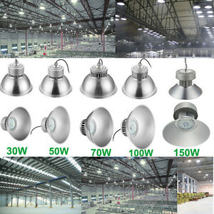 30W-150W LED High Bay Light Bright White Fixture Warehouse Factory Industry Lamp