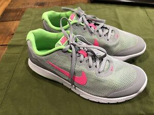 Zapatillas Nike Flex Experience RN 9 Mujer Gris Rosa