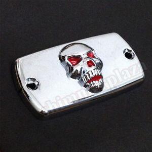Metal Cover Skull Brake Fluid Reservoir Cap for Honda Shadow 600 750 1000