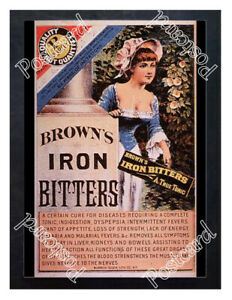 Historic-Brown-039-s-Iron-Bitters-Advertising-Postcard