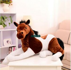 Giant-130cm-X-60cm-Horse-Plush-Emulational-Stuffed-Animal-Soft-Toy-Doll-Handmade