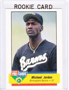 Details About Michael Jordan Rookie Card Fleer Rc Basketball Baseball Barons Chcago Bulls Hof