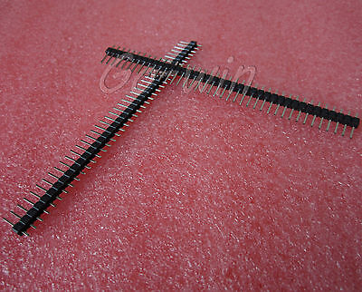 50PCS 2.54mm 40 Pin Male Single Row Pin Header Strip New High quality