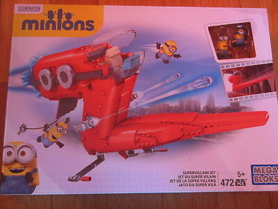Brioso Mega Bloks Minions Supervillain Jet Cnf 60 Illumination Entertainment Nuovo New