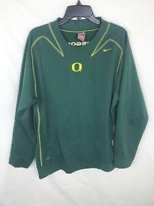Vtg-Nike-Team-Therma-Fit-Oregon-Ducks-Embroidered-Crewneck-Sweatshirt-Mens-Sz-M