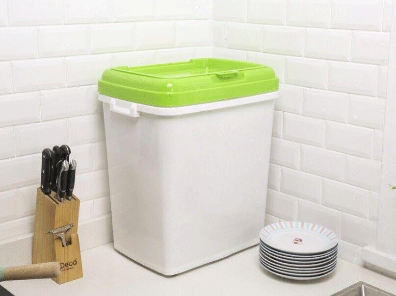 D46 40kg Kitchen Rice Storage Bin Flour Cereal Bean Grain Box Container Case Q