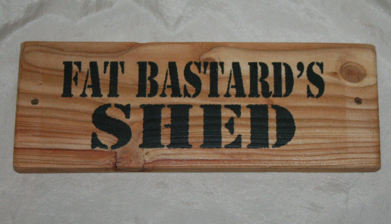 FAT BASTARD SHED Sign Adult Rude Hanging Door Plaque Home Office Den Garage Funn