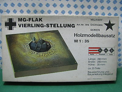 Instancabile Vintage Kit - Mg - Flak Vierling-stellung W.w.ii - 1/35 Hmb Art. Nr. 970 Con Metodi Tradizionali