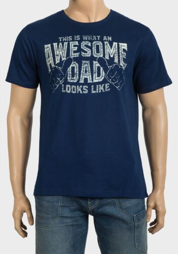 MENS T SHIRT NAVY AWESOME DAD FUNNY GIFT FATHER/'S DAY FREE P+P