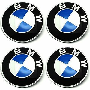 4 x bmw emblem felgen aufkleber logo nabendeckel. Black Bedroom Furniture Sets. Home Design Ideas