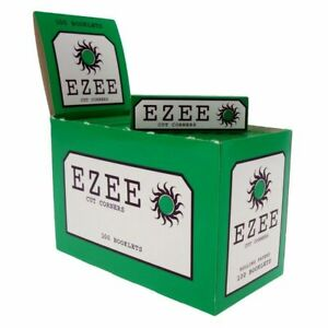 Full-Box-of-Ezee-Green-Rolling-Cigarette-Papers-Standard-Size-Cut-Corner
