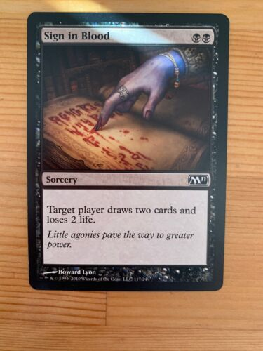 Magic The Gathering Single Cards Excellent Condition Sign in Blood MTG