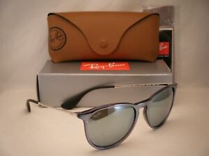 7fe3b33e6c0 Ray Ban 4171 Erika Grey w Silve Flash Mirror Lens NEW sunglasses ...