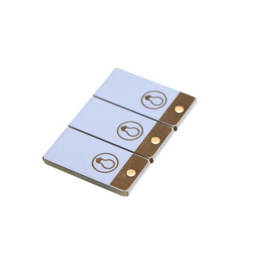 3Pcs Mini USB LED Light Pocket Card Lamp Mobile Power Camping Laptop Black White