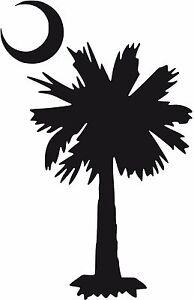 sc south carolina palmetto tree crescent moon decal sticker u pick