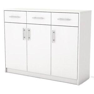 Kommode-Schrank-3-Schubladen-Sideboard-Schlafzimmer-weiss