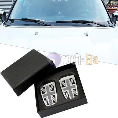 2pcs Union Jack Wiper Spray Nozzle Cover for Mini cooper R55 R56 R57 R58 R5, etc