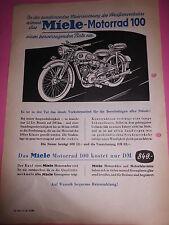 Original Prospekt Sales Brochure Miele Motorrad 100 60kmh 100er Klasse Sachs 98