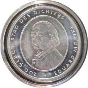 ALX01004.3 - 10 EUROS ALLEMAGNE 2004 F - Eduard Morike - argent