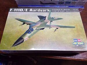HobbyBoss 1/48 Model Airplane Kit F-111D/E Aardvark Fighter Jet 80350 Sealed