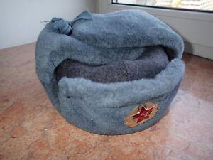 !!! Original Urss Armée Soviétique Armée Rouge Pilote Fourrure Chapeau D'hiver Genuin Laine-afficher Le Titre D'origine En Voyageant