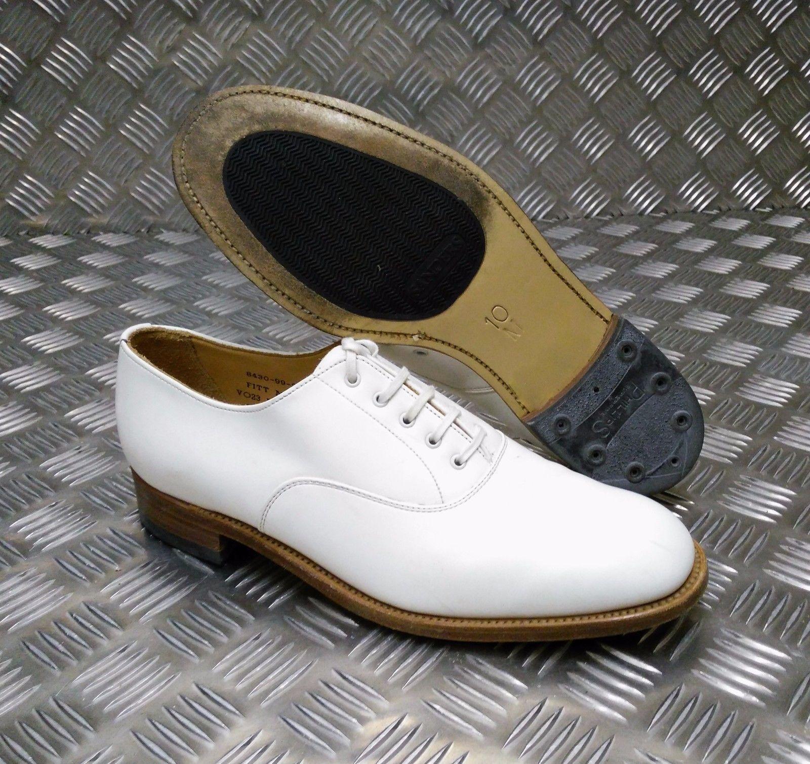 Echt British Navy Weißes Leder Parade/Formelle Schuhe Herren / Frau - alle