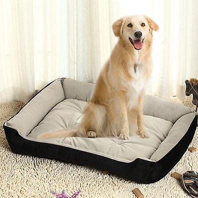 Dog Cat Puppy Pillow Sofa Nesting Bed Sofa Mat Basket Washable Cushion Black 2XL