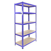 1 Garage Shelving Racking Heavy Duty Steel Boltless Warehouse Unit 5Tier 90cm