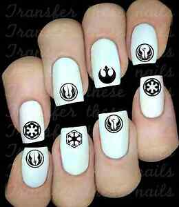 Details About 30 Star Wars Nail Art Decals Stickers Water Transfers Party Favors