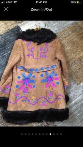 Vintage 70's Afghan Coat Jacket Sheepskin (Please
