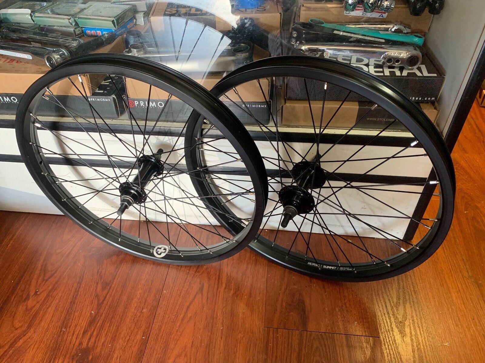 Sal Plus Everest 3 8 juego de ruedas completo de Rueda Libre Negro 20  ruedas de bici de BMX