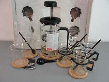 BODUM BISTRO FRENCH PRESS COFFEE BREWER MAKER GLASS CARAFE BEAKER COASTER LOT 19