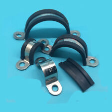 Rubber Cushioned Cable Clamp 304 Stainless Steel Hos HJ Garden 6pcs 2 inch 50mm
