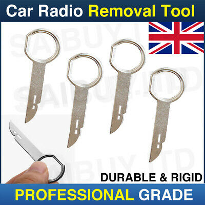 4pcs Silver Car Radio Stereo Removal Release Tool Keys for Ford Audi Mercedes Benz Volkswagen