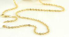 Damen Herren Halskette Singapurkette 45cm x 2mm 750er Gold / 18K vergoldet 1435
