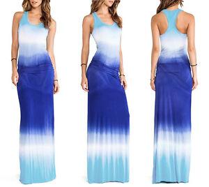Caricamento dell immagine in corso Vestiti-Lunghi-Donna-Blu-Mare-Casual-Blue -Woman- c481fc88036