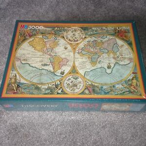 Sealed discovery world map vintage 3000 piece jigsaw puzzle by mb image is loading sealed discovery world map vintage 3000 piece jigsaw gumiabroncs Image collections