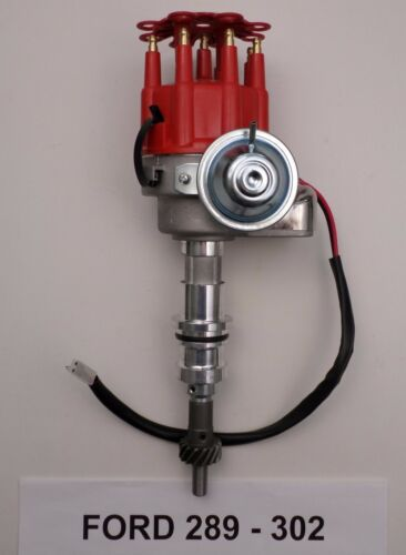 Chrome 45,000 Volt Coil FORD 221-260-289-302 RED Small Cap HEI Distributor