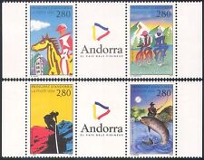 Andorra 1994 Tourism/Sports/Cycling/Horses/Fishing/Bikes/Climbing 4v set (b8900)
