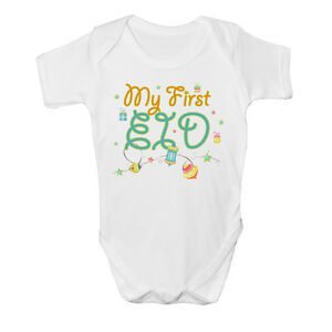 09f501a62 My First Eid Muslim Baby Vest Grow Clothes Bodysuit Top Size Boys ...