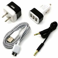 Car & wall charger + audio & micro USB cord cable for Samsung Galaxy 5 Note 3