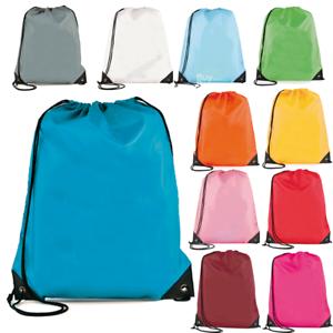 Drawstring Bag Gym School Swim Travel Adults Kids Backpack PE Dance Sports Kit