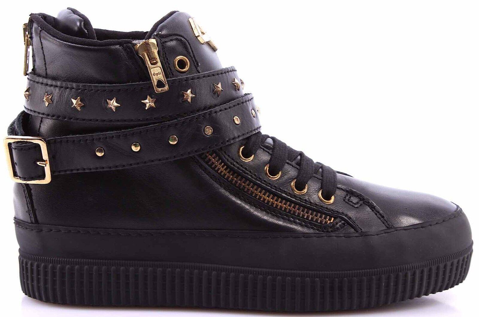 chaussures chaussures chaussures baskets Alte femmes CYCLE 371146 SP1 Sport noir Pelle Made In  dcea2a